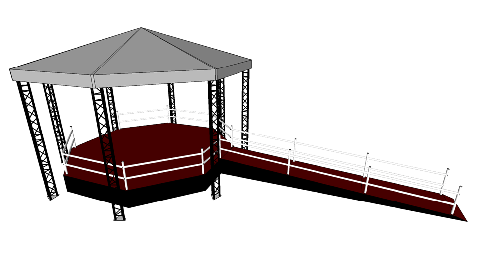 Bandstand 1 with accessibility ramp